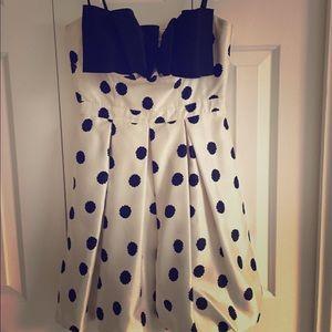 AQUA polka dot party dress